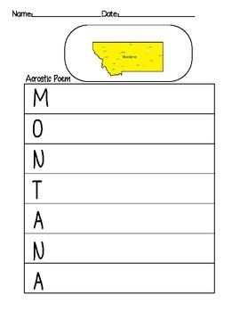 Montana Acrostic Poem