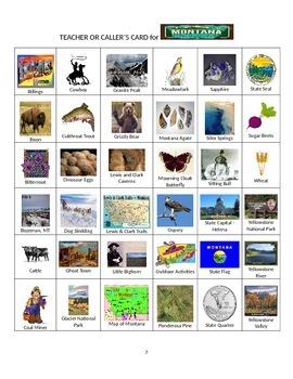 Montana Bingo:  State Symbols and Popular Sites