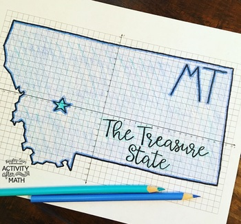 Montana Coordinate Graphing Picture 1st Quadrant & ALL 4 Quadrants