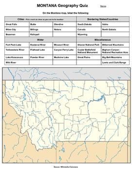 Montana Geography Quiz