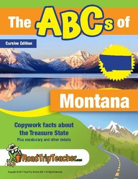 Montana Handwriting Printables - Cursive Edition