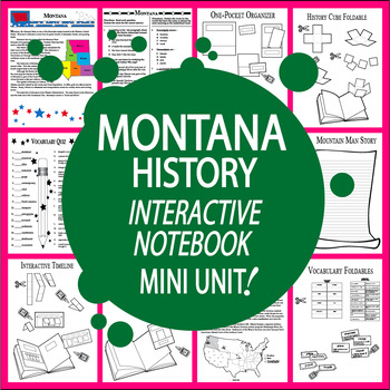 Montana History–Interactive Notebook Montana State Study Unit + AUDIO!