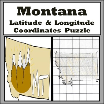 Montana Latitude and Longitude Coordinates Puzzle - 22 Coordinates to Plot