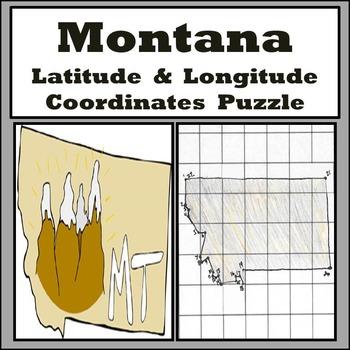 Montana Latitude and Longitude Coordinates Puzzle - 22 Coo