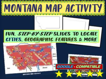 Montana Map Activity- fun, engaging, follow-along 20-slide PPT