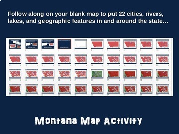 Montana Map Activity- fun, engaging, follow-along 20-slide PPT