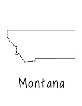 Montana Map Coloring Page Craft - Lots of Room for Note-Taking & Creativity