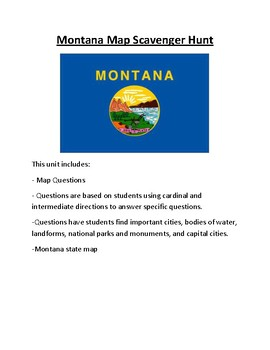 Montana Map Scavenger Hunt