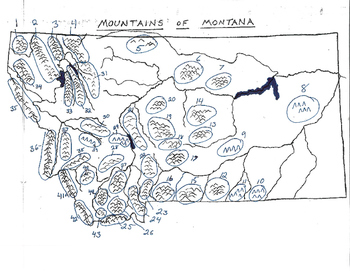 Montana Mountains Numbered for Test