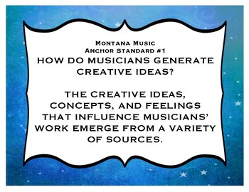 Montana Music Standards Posters