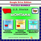 Montana Puzzle BUNDLE - Word Search & Crossword Activities - U.S States - Google