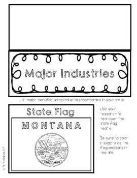 Montana State Research Lapbook Interactive Project