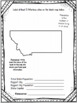 Montana State Research Report Project Template with bonus timeline Craftivity MT