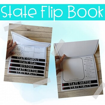 Montana State Study Activity Flip Book/ Note Taking Pages