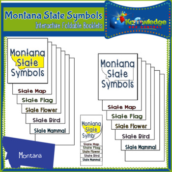 Montana State Symbols Interactive Foldable Booklets