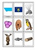 Montana State Symbols themed Memory Match Game. Preschool Card Game