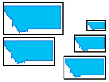 Montana State Symbols themed Size Sequence. Preschool Games. Four Differen