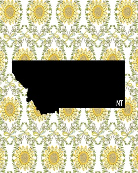FREEBIE! Montana Vintage State Map or Poster Class Decor,