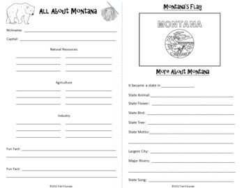 Montana Webquest Common Core Research Activity Mini Book