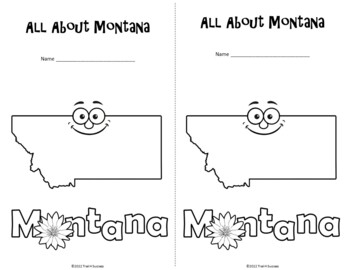 Montana Webquest Common Core Research Activity Mini Book Worksheets