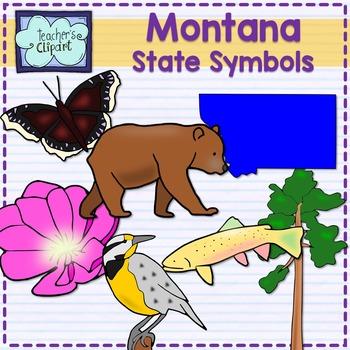 Montana state symbols clipart
