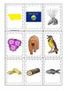 Montana themed Memory Matching and Word Matching preschool curriculum game