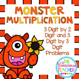 Monster Multiplication 3 by 2 Digit and 3 by 3 Digit Probl