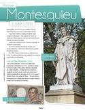 French text + activities + teacher's preparation: Montesquieu