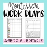 Montessori 3-6 Work Plan - Fully Editable!