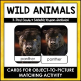 Montessori 3 Part Animal Cards for Toddlers
