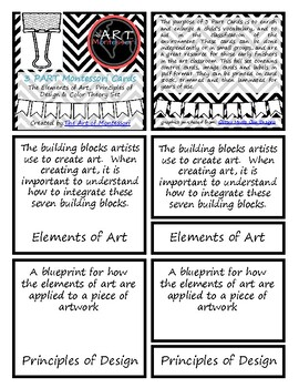 Elements & Principles of Art Vocabulary (Montessori 3 Part CARDS)