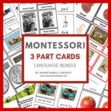 Montessori Language 3 Part Card Bundle - 44 Sets with Life