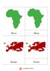 Montessori 3-Part Cards - Continents of Our World