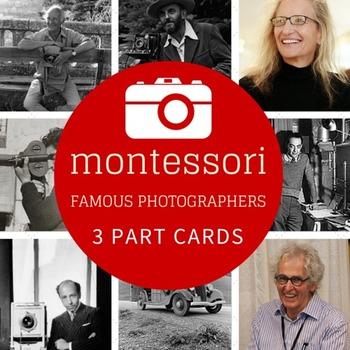 Montessori 3 Part Cards Famous Photographers