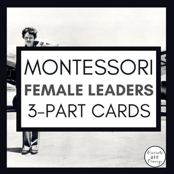 Montessori 3 Part Cards Female Scientists, Inventors, Pioneers