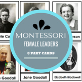 Montessori 3 Part Cards Female Scientists, Inventors, Pioneers