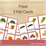 Montessori 3 Part Cards- Food