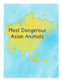 Montessori 3-Part Cards, Most Dangerous Animals of Asia Set