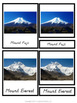 Montessori 3 Part Cards Mountains of the World