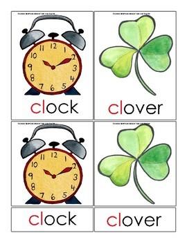 Montessori 3 Part Cards - Phonics Blends