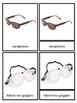FREE Montessori 3 Part Cards - Types of Glasses