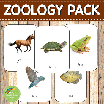 Montessori 3 Part Cards Zoology BUNDLE