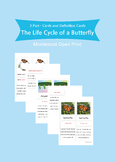 Montessori 3 Part Cards and Definitions - The Life Cycle o