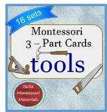 Montessori 3 - Part Cards of Tools