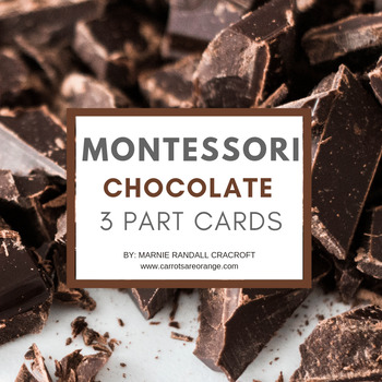 Montessori 3 Part Cards - Chocolate