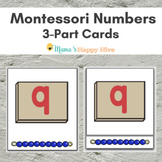 Montessori 3-Part Number Cards
