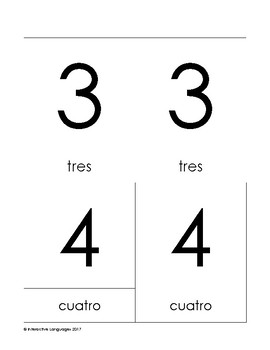 Montessori 3-part cards 0-10 Spanish