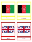 Montessori 3 part cards - Flags and Maps