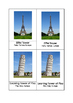 Montessori 3 part cards - World Landmarks