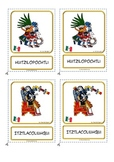 "Montessori 3 part cards for: ""Ancient Aztec Gods"""